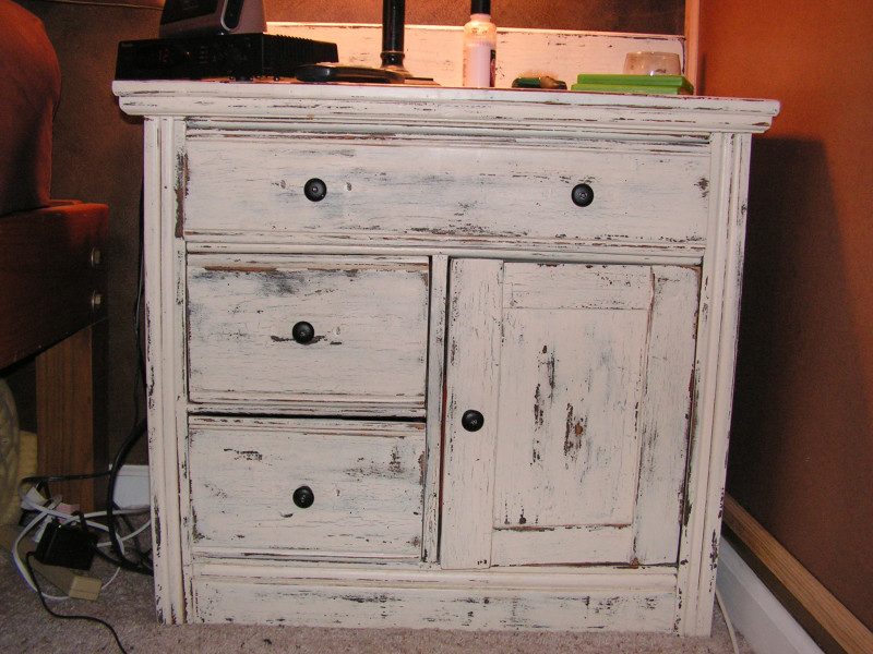 Chalk Paint Cabinet Finish.